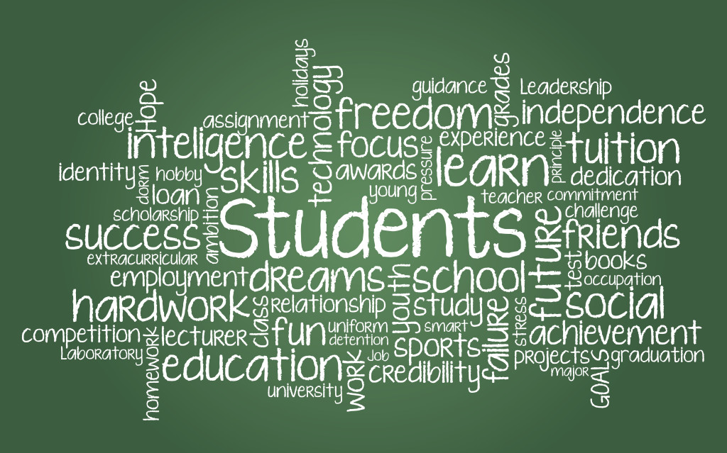 Students word cloud