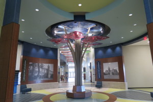 Lobby area at Heritage Elementary showing Legacy of Learning Tree