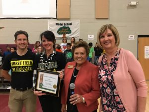 West Field Principal and Assistant Principal Receive Award from Great Expectations for achieving Model School Status