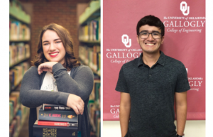 Abigail Ferrell and Michael Cox headshots (students were named AP scholars for Oklahoma)