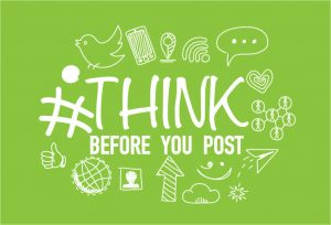 Graphic of think before you post image