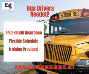 Yellow School Bus with website address to apply